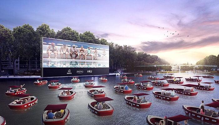 Το Παρίσι κάνει τη διαφορά με το πλωτό του σινεμά